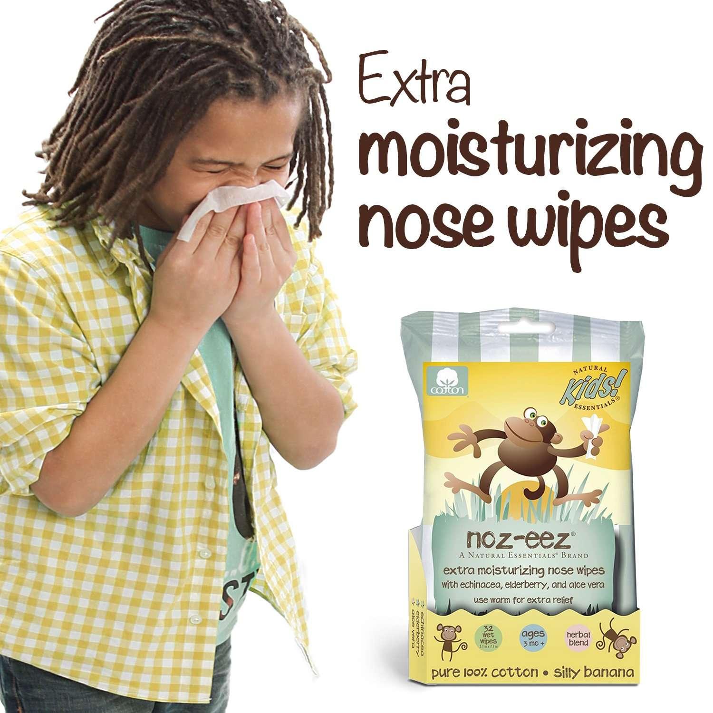 noz-eez wipes banana scent kid sneezing