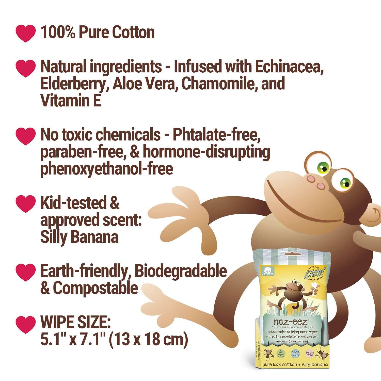 noz-eez wipes features banana scent