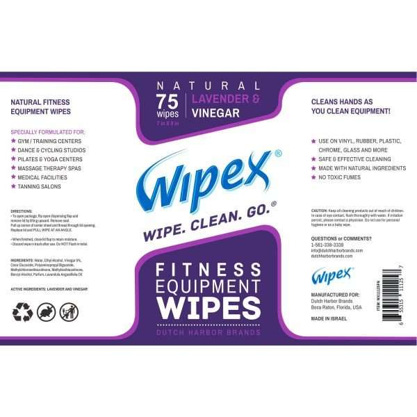 Wipex fitness lavender label
