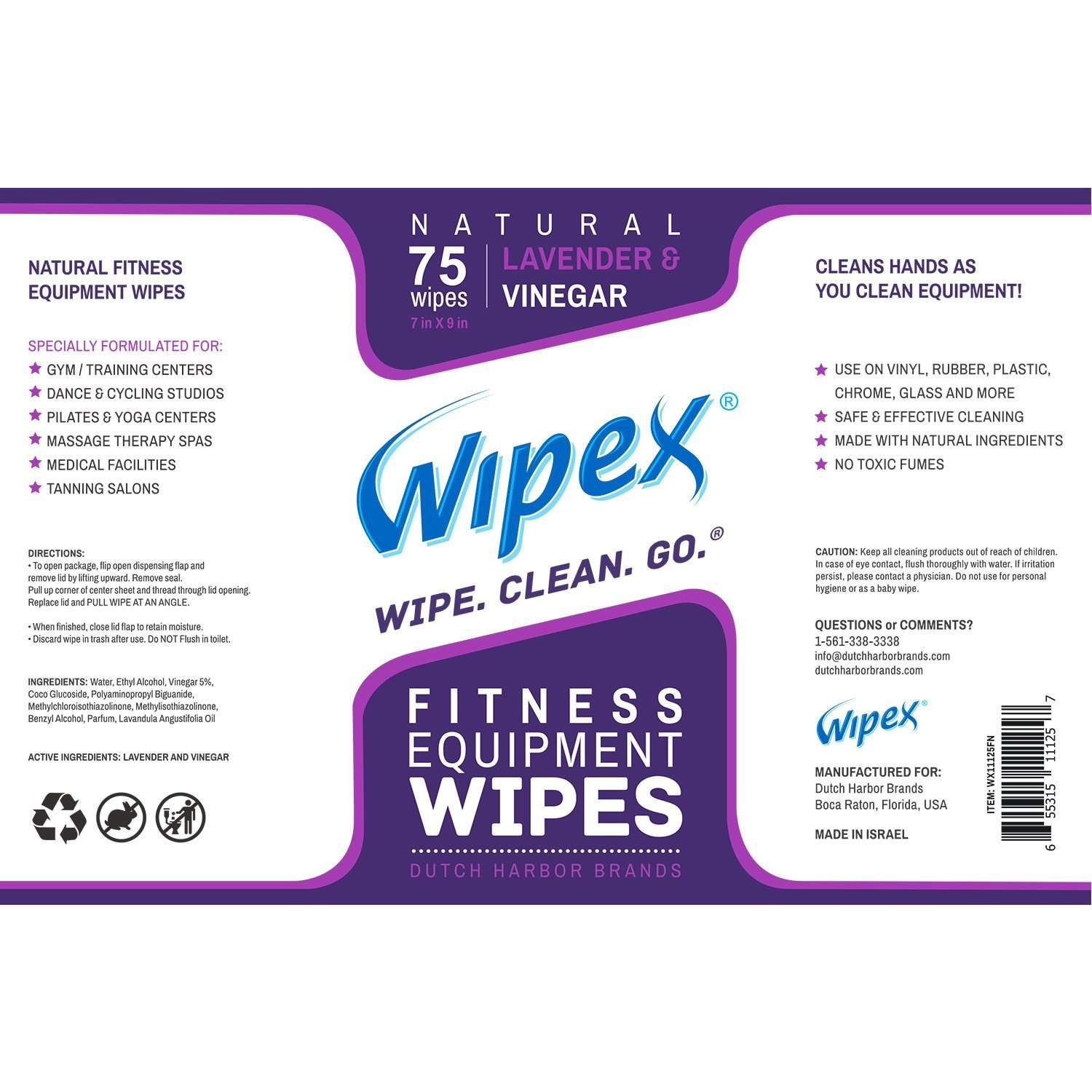 Fitness Equipment Wipes: New & Improved Wipex 75 Natural Personal Fitness Equipment