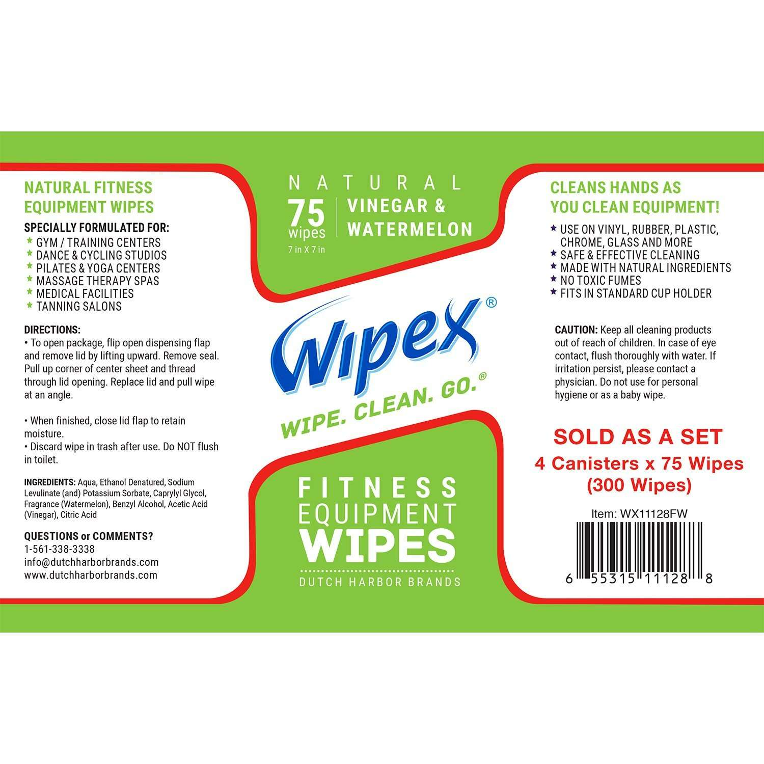 Wipex Natural Fitness Equipment Wipes For Personal Use
