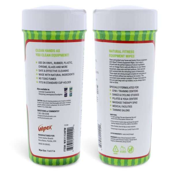 Wipex gym wipes side information personal canister conical