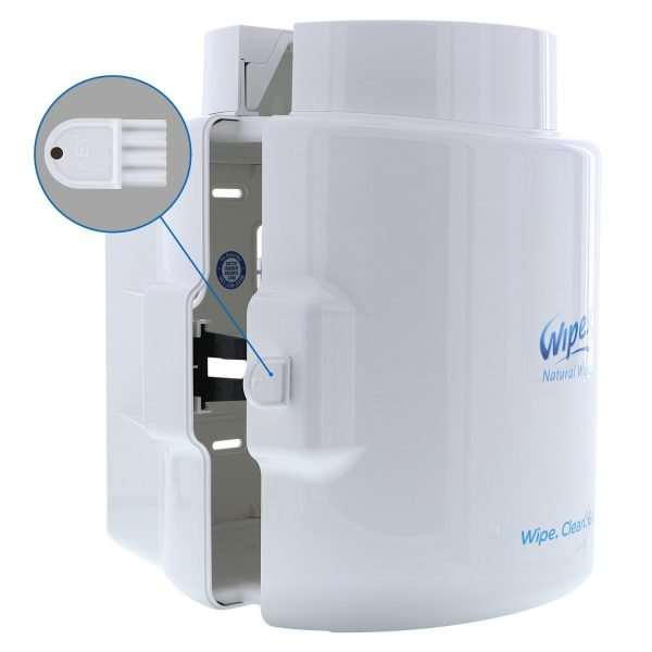 Wipex White Dispenser key lock