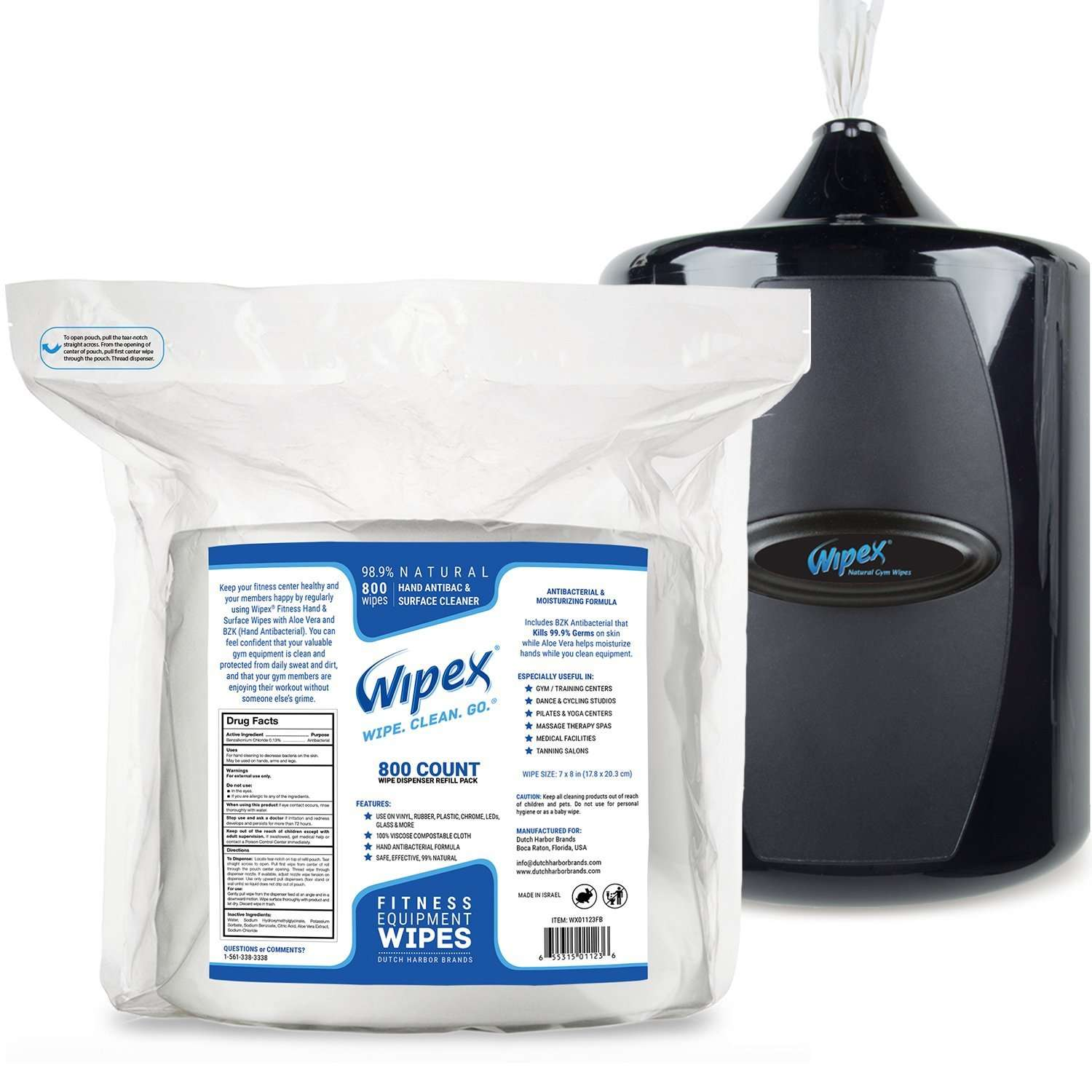 Wipex Gym & Fitness Equipment Wipes with Canister