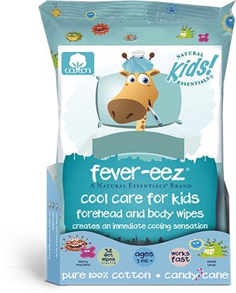 Natural Essentials Kids Fever Reducing Cooling Wet Wipes