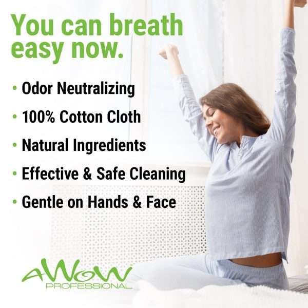 you can breath easy now CPAP travel wipes odor neutralizing