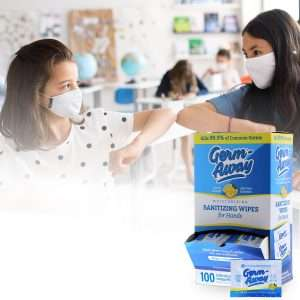 GA 100ct Sachet Dispenser box in school
