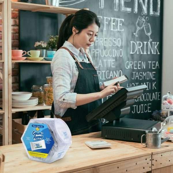 Germ-Away Hex Jar Cafe Display