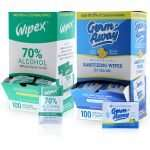 Wipex and Germ-away sachet wipes dispenser