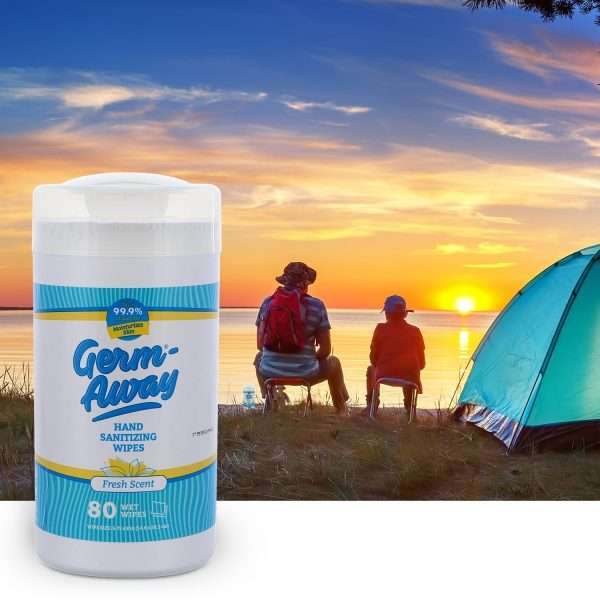 Germ-Away Fresh Scent 80 count canister for camping