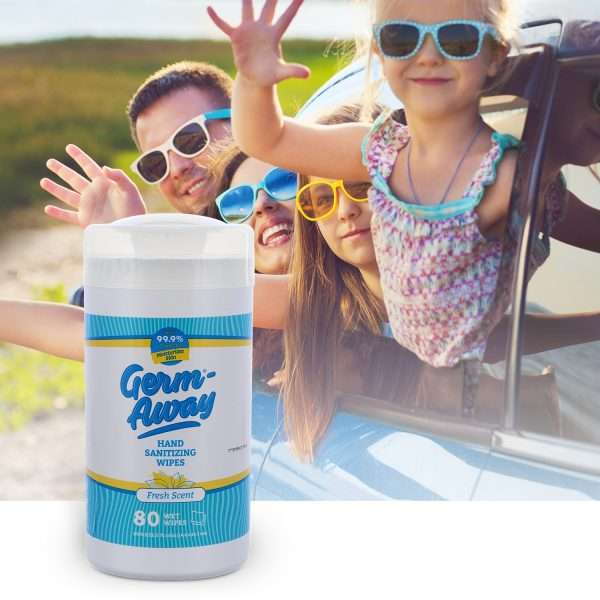 Germ-Away Fresh Scent 80 count canister on Vacation